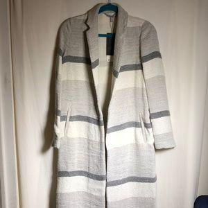 Zara linen yarn knit maxi coat